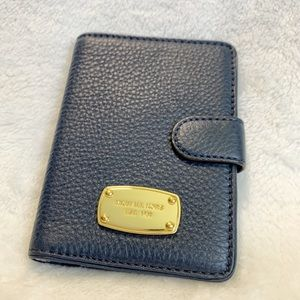 MICHAEL KORS Navy Blue Passport Holder